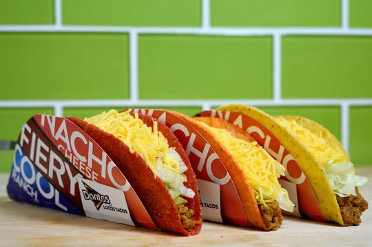 Doritos Locos Tacos are part of the National Taco Day Gift Set being offered Oct. 4, 2018, by participating Taco Bells.