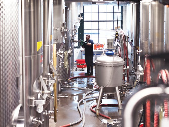 Inside the Rohrbach brewery operations.