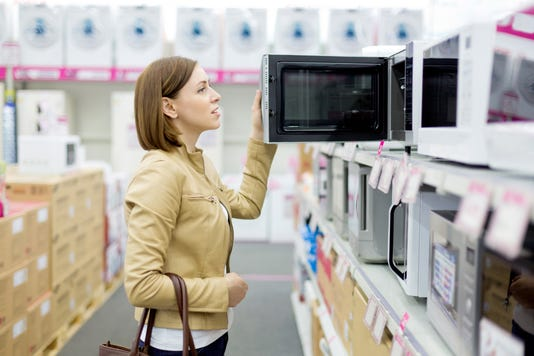 Woman Buys The Microwave