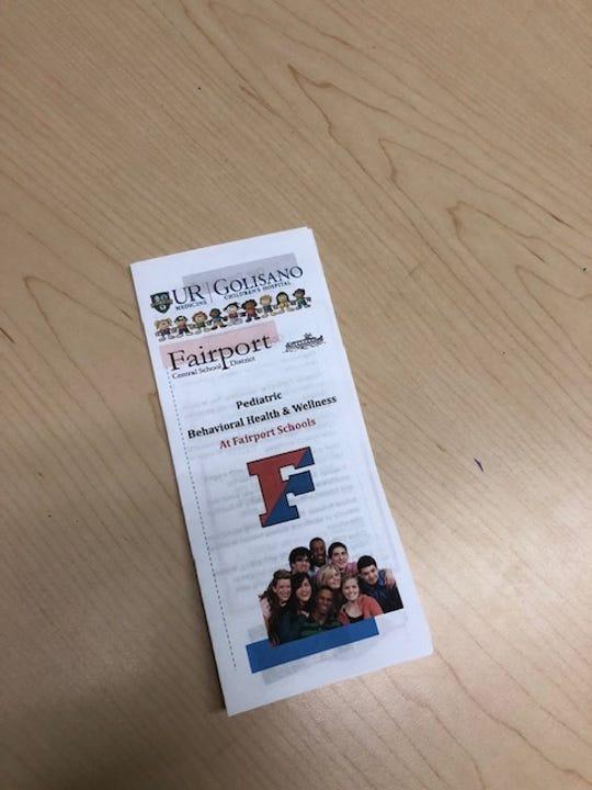 Brochure for mental health at FCSD.