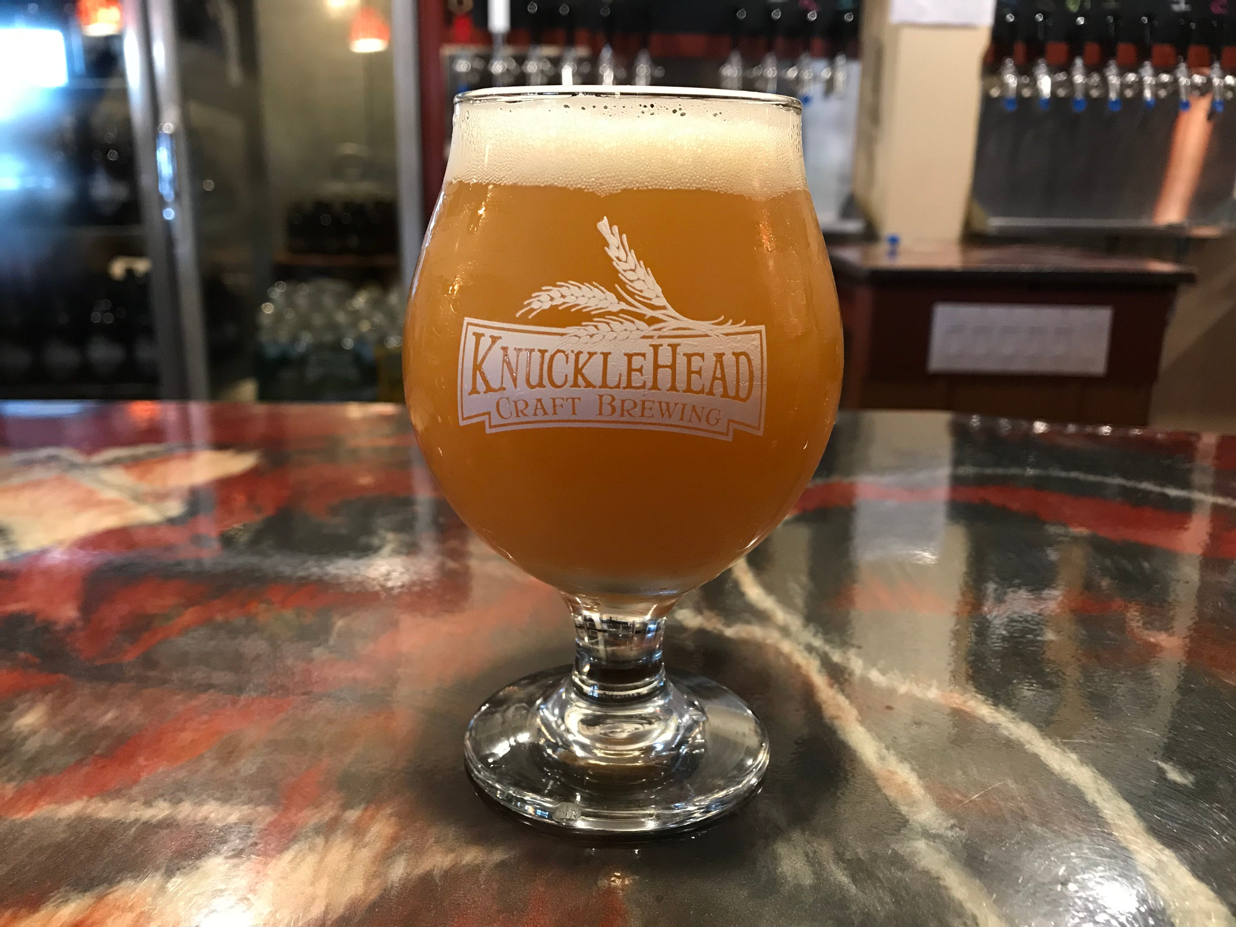Knucklehead Craft Brewing Tainted Haze IPA.