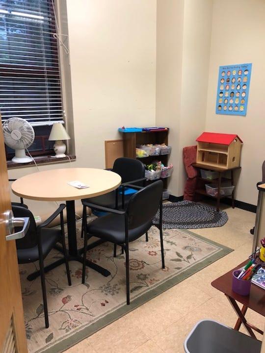 URMC satellite clinic room at Minerva DeLand school.