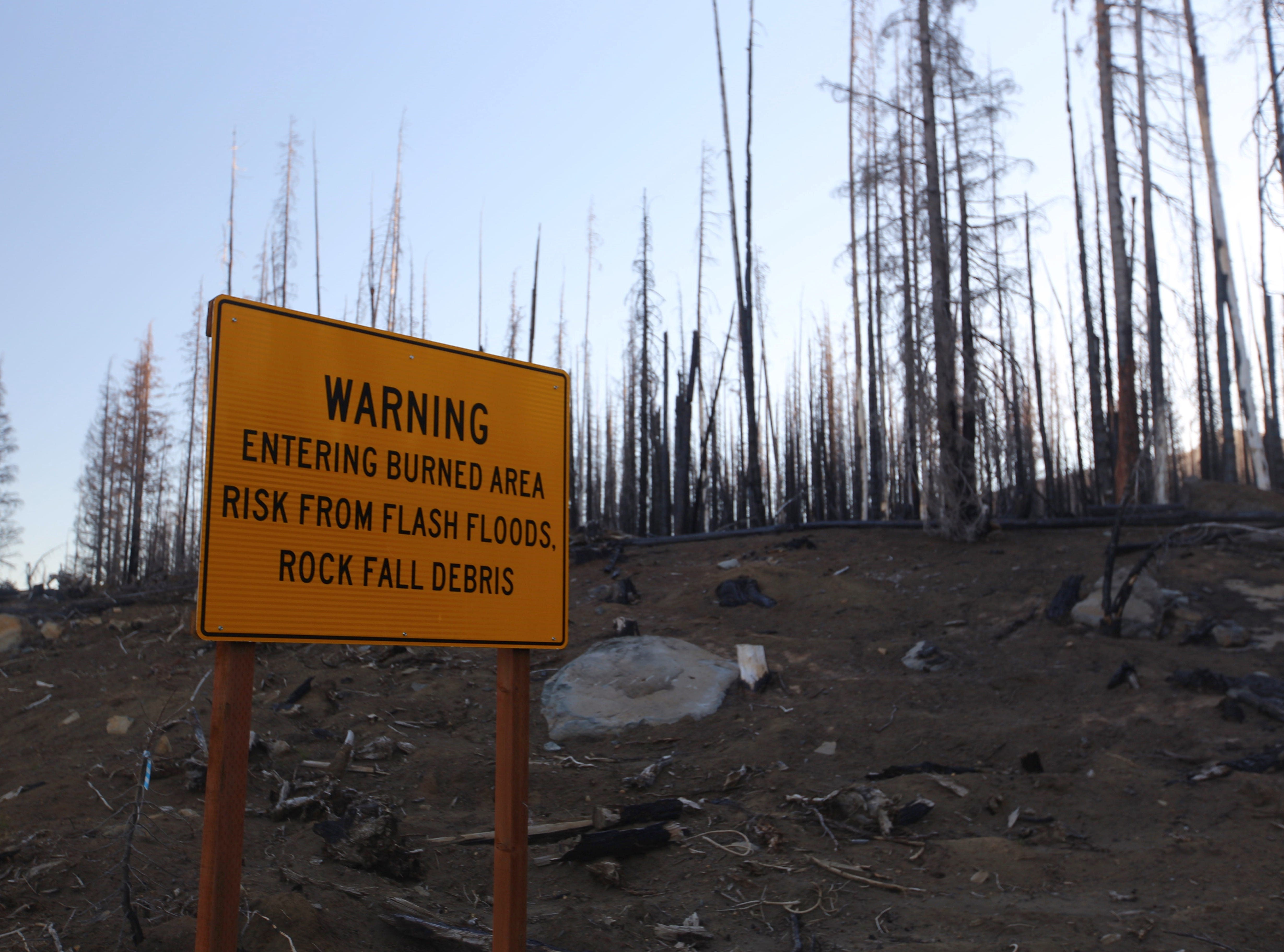 Area burned by 2017 Milli Fire