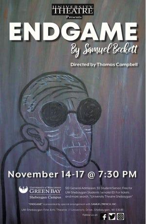 Poster for Samuel Beckett's 'Endgame' at the University of Wisconsin-Green Bay, Sheboygan Campus.