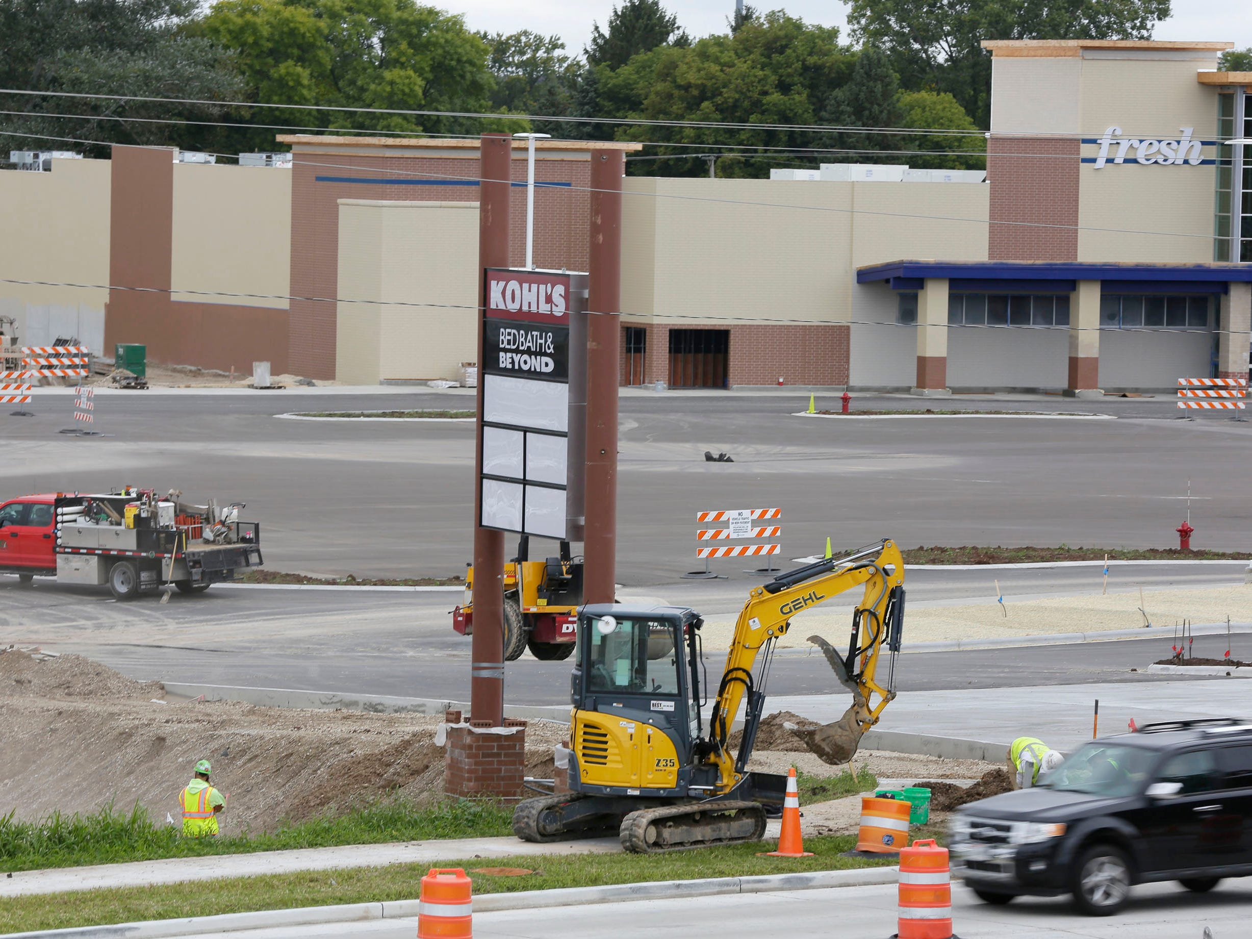 A new sign is part of the landscape at the Meijers Construction site, Tuesday, October 2, 2018, in Sheboygan, Wis.