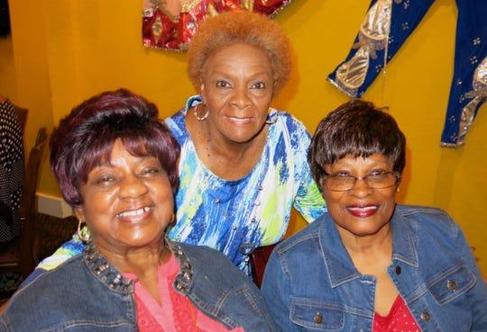 Marie Noble, Janet Williams, Melvin Higgins at Alex Harris Sr. birthday dinner.