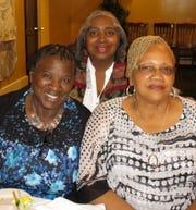 Ruby Harris, Shirley Wills, Pat Nichols at Alex Harris Sr.'s birthday dinner.
