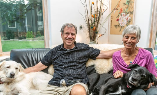 Joe and Madeleine Hooper share their Midtown home with two dogs and a cat.