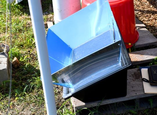 A solar oven at Virginia School for the Deaf and Blind's educational urban farm on Monday, Oct. 02, 2018.