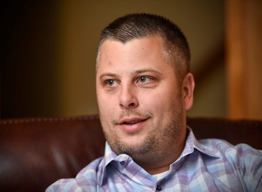Sartell Mayor candidate Ryan Fitzthum Tuesday, Oct. 2, at his home in Sartell.