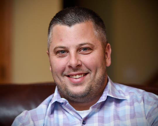 Sartell Mayor candidate Ryan Fitzhum Tuesday, Oct. 2, at his home in Sartell.