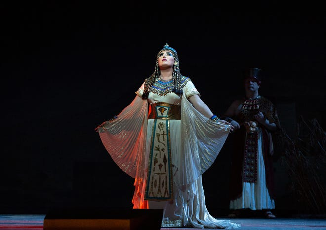 "Anna Netrebko as the title character in Verdi's ""Aida."" The popular opera is showing in St. George this weekend for the first in a series of high-definition simulcasts that broadcast the live show from New York in theaters around the world."
