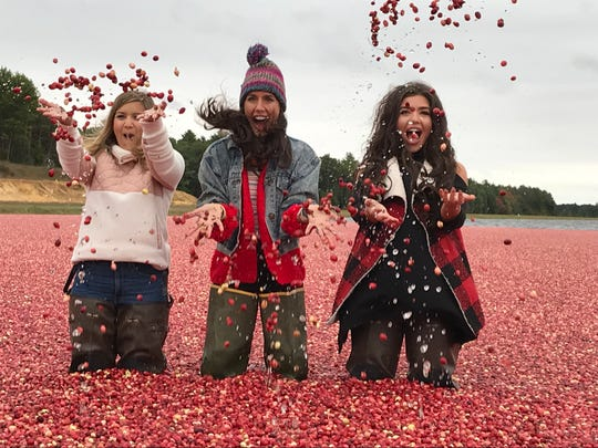 Lauren Nolan, Christine Bibbo Herr and Madison Payne posed for photos on social media in a cranberry marsh in Warrens, Wisconsin.