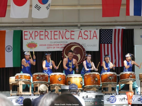 Hear live drummers at the 14th annual Experience Asia Festival on Saturday.