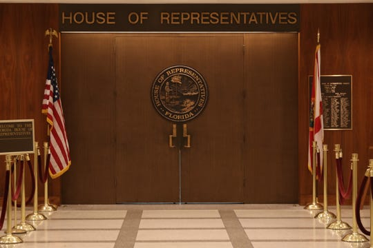 House of Representatives chamber doors, Tuesday, Oct. 2, 2018