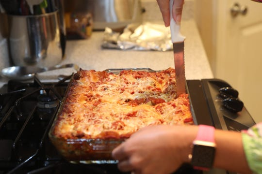 A diet rich in whole grains, vegetables and beans plays a role in cancer prevention. As part of Breast Cancer Awareness Month, Anna Jones prepared this No Boil Veggie Lasagna, packed with spinach, red peppers and tomatoes.