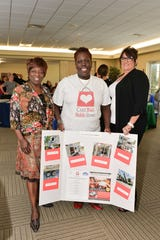Evangelist Cynthia Koenig, left, Roxy Brown of CareBag and Rose Best of Second Chance Mental Health at the Showcase of Services at the Treasure Health Community Center in Fort Pierce.