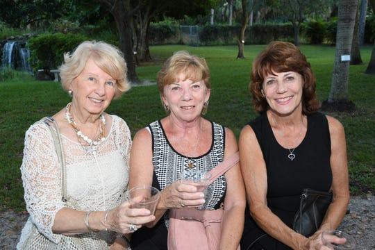 Lesley Larkin, left, Mary DeFalco and Nancy Infantino at the Humane Society of the Treasure Coast's Kitty Catalina Wine Mixer.