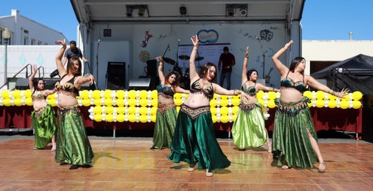 Belly dancers inspired by Middle Eastern culture perform at a past Oxnard Multicultural Festival.