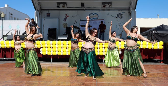 Belly dancers inspired by Middle Eastern culture perform at last year's Oxnard Multicultural Festival.