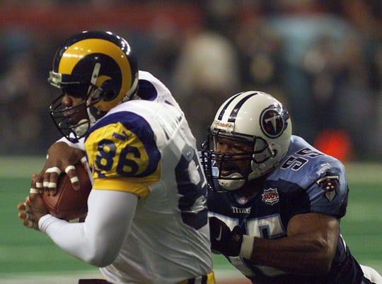 Roland Williams (86) was part of the Rams' Super Bowl champion team in 1999.
