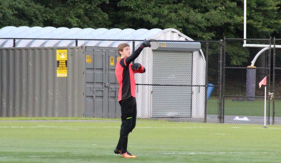 New Rochelle keeper Jake Sadow moved up to varsity this season and didn't take long to have an impact.