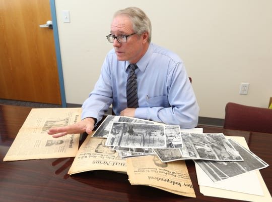 Historian Craig Long, a Suffern police detective, at the Sloatsburg municipal building Oct. 5, 2017. Long will speak about the 1958 train collision during a program on Oct. 9 in Sloatsburg.
