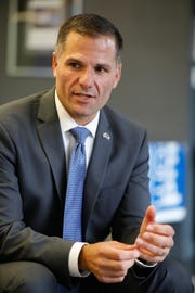 Marc Molinaro, the Dutchess County executive and 2018 Republican candidate for governor, speaking to members of The Journal News editorial board and reporters on July 30, 2018.