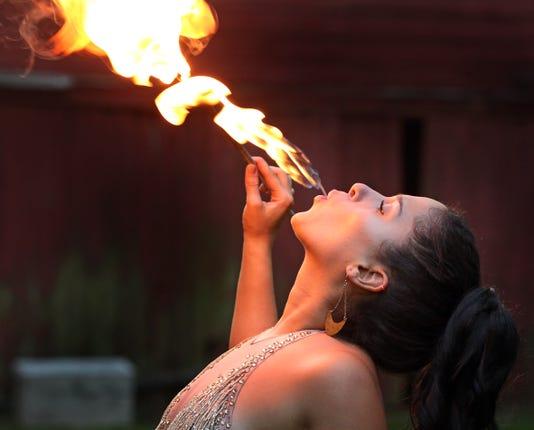 Brittny Popolizio Fire Eater