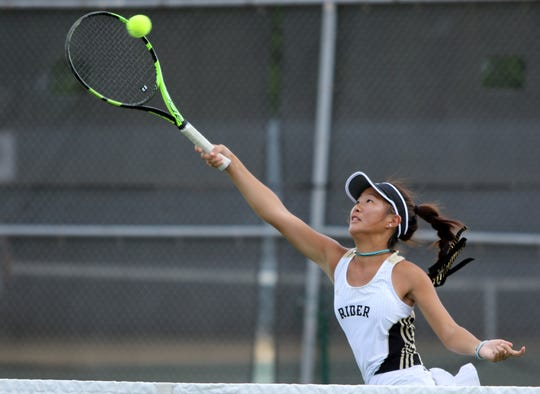 After making state in girls doubles last year, Rider's Julia Chon will move back to singles this spring.
