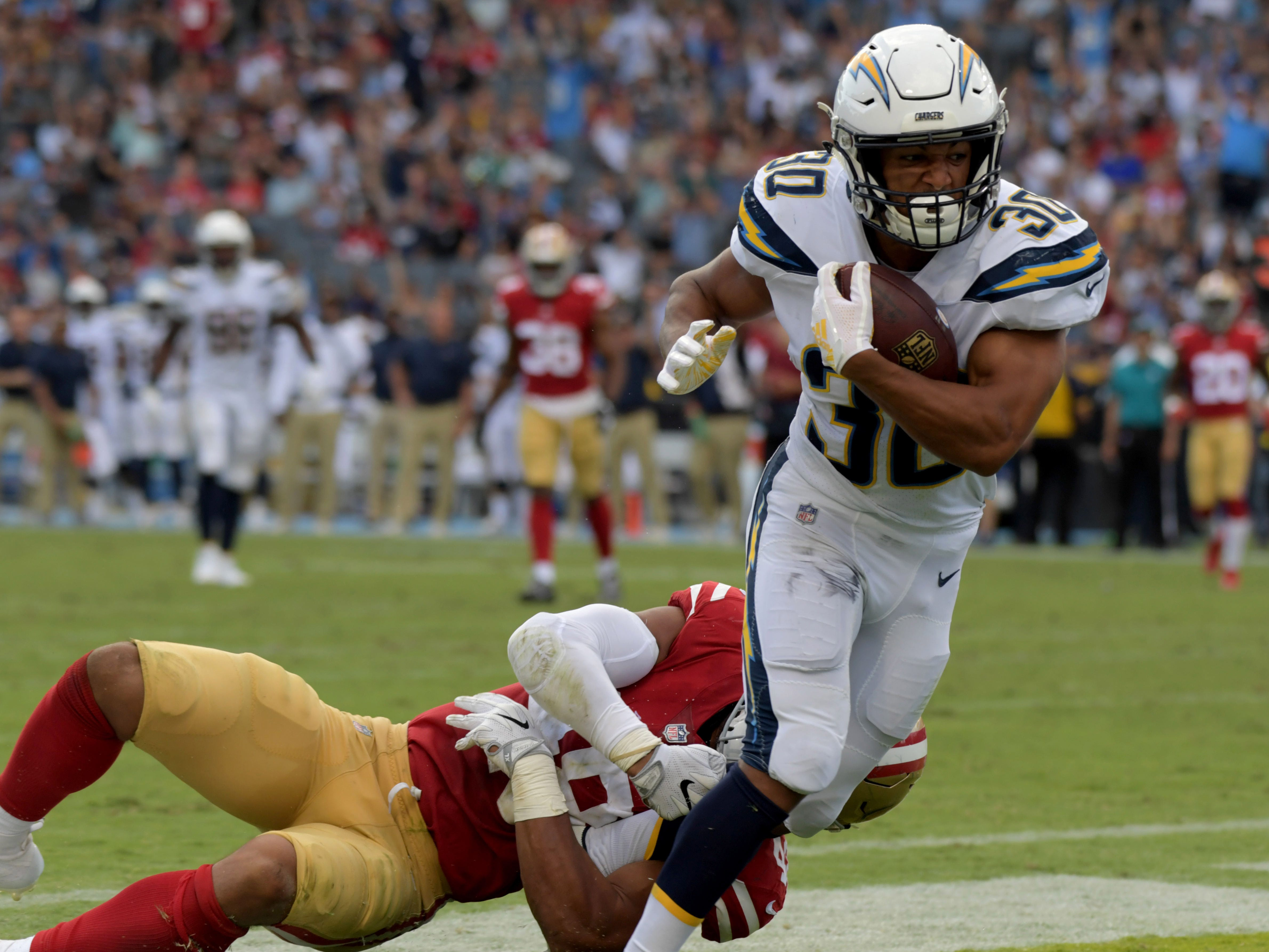 6. Chargers (11): Guess who ProFootballFocus' top-ranked RB is? If you said Melvin Gordon, you're wrong. It's actually Austin Ekeler. Watch him next time.