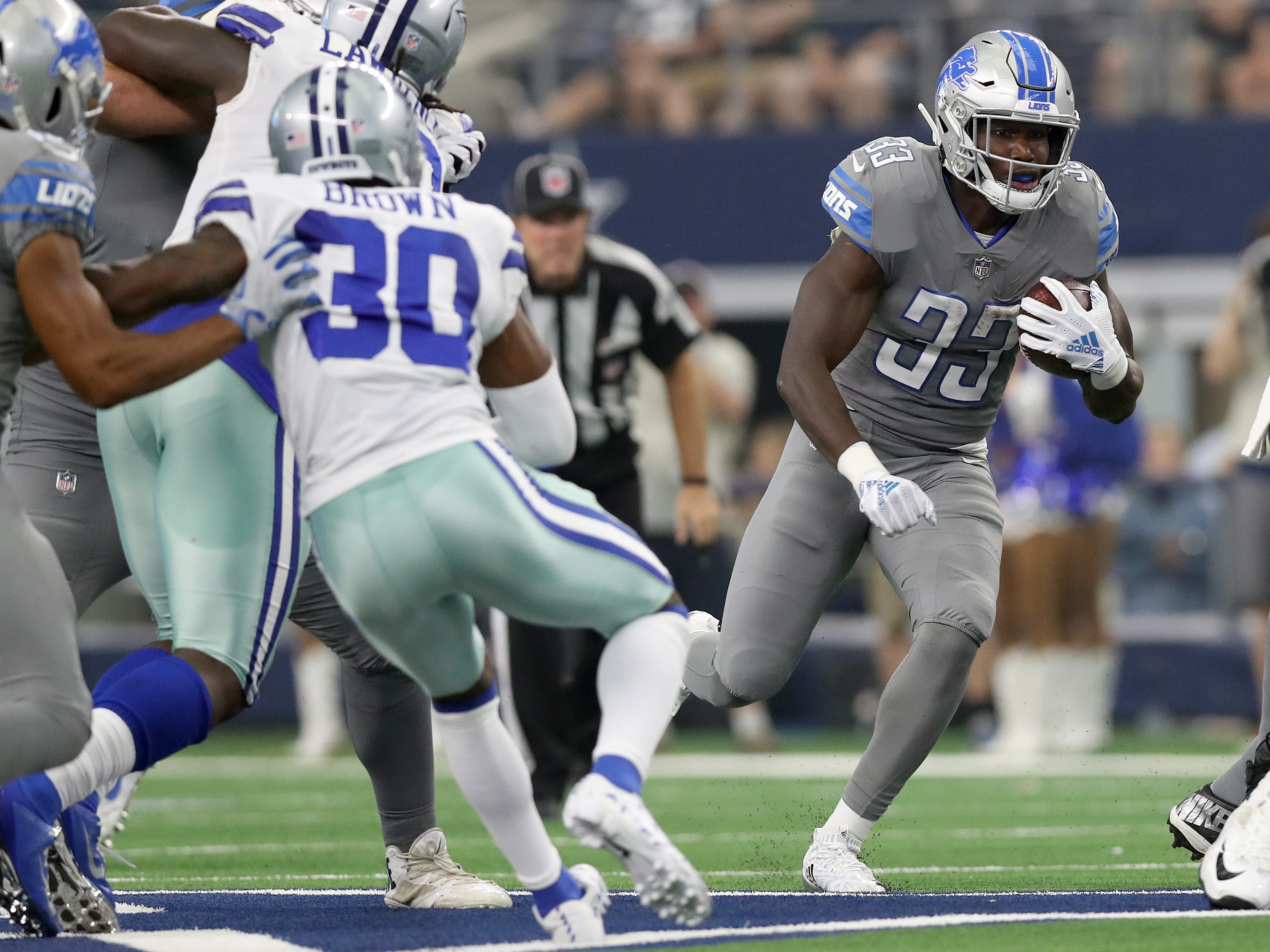23. Lions (23): Time to start giving rookie RB Kerryon Johnson more than 12 touches per game. He's earned it, and it ultimately preserves Matthew Stafford.