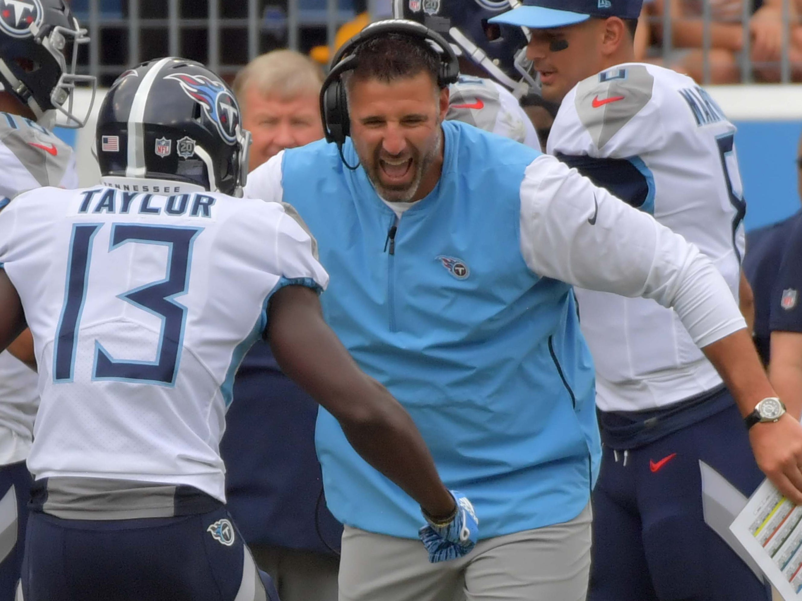 12. Titans (20): They're plus-two in win column (3-1) and plus-two in points column (75-73). Reminder, we picked Mike Vrabel as preseason coach of the year.