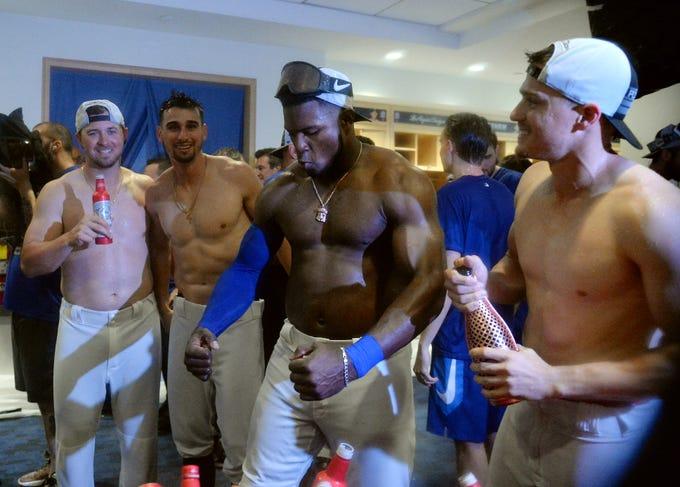 MLB teams celebrate postseason berths
