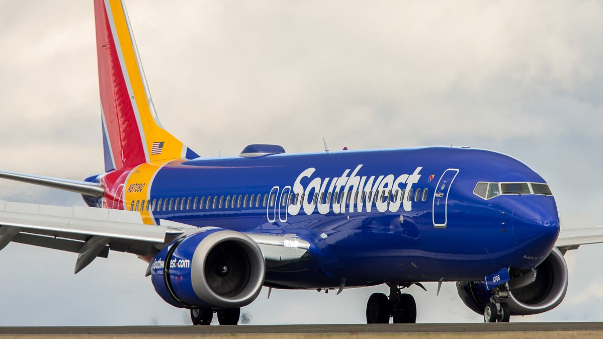 Bruce Alexander, 49, was arrested on an abusive sexual contact chargeafter Southwest Flight 5421 landed in Albuquerque.