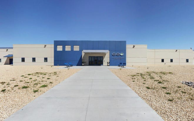 The Adelanto ICE Processing Center, an immigration detention center in Adelanto, Calif.