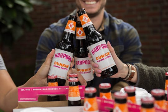The new Harpoon Dunkin' Coffee Porter combines the taste of Dunkin's Espresso Blend Coffee with Harpoon Brewery's craft beer.