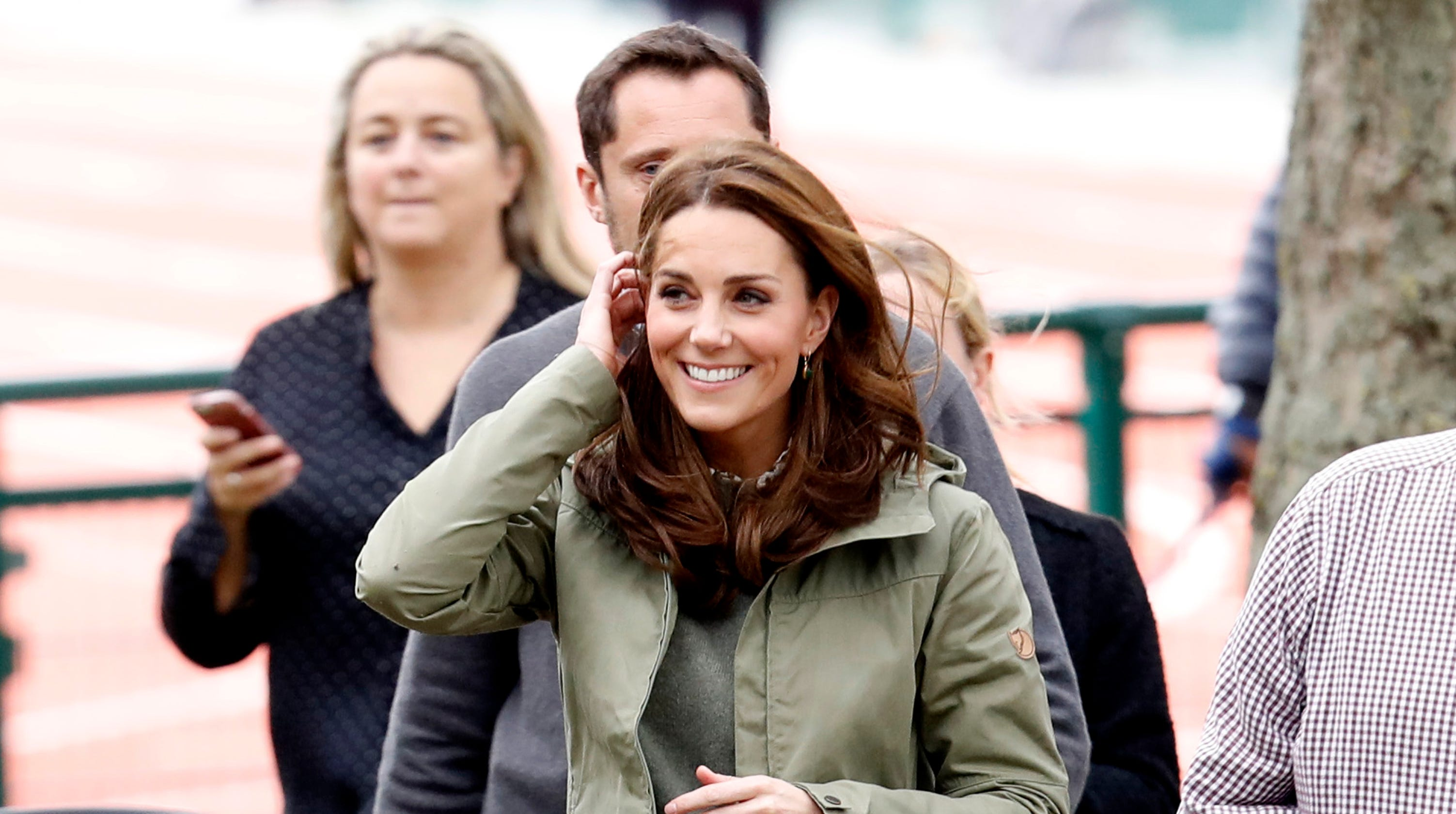 6ab3165a299 Duchess Kate returns from maternity leave in a laid-back sweater look