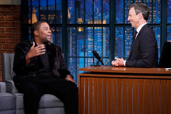 "Kenan Thompson appeared on ""Late Night with Seth Meyers"" Monday."