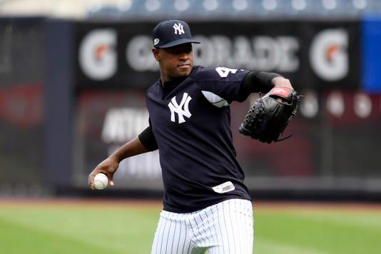 Mlb Al Wild Card New York Yankees Workout