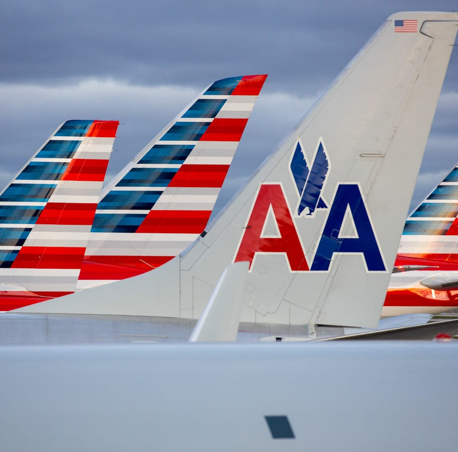 This file photo from Nov. 11, 2016, shows American Airlines planes at Chicago O'Hare International Airport.
