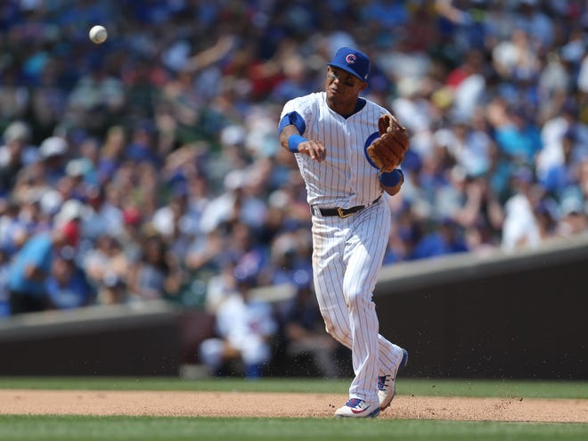 Cubs shortstop Addison Russell.