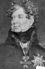 George IV, an 18th-century British king who ate too much, drank too much, gambled too much and spent too much, but loved art and architecture.