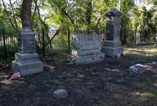 The old Truax/Palmer cemetery in Keansbug which has been refurbished after decades of decay. Photos taken on October 3, 1018 in Keansburg, NJ.