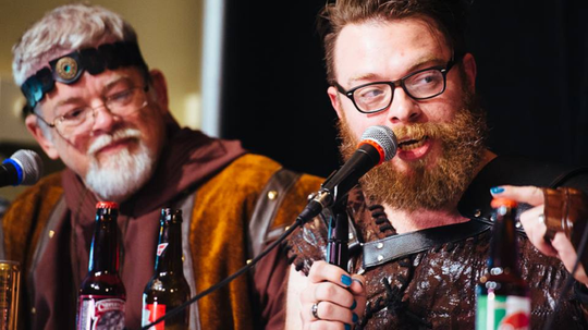 "Clint, left, and Travis McElroy co-star on ""The Adventure Zone"" podcast."