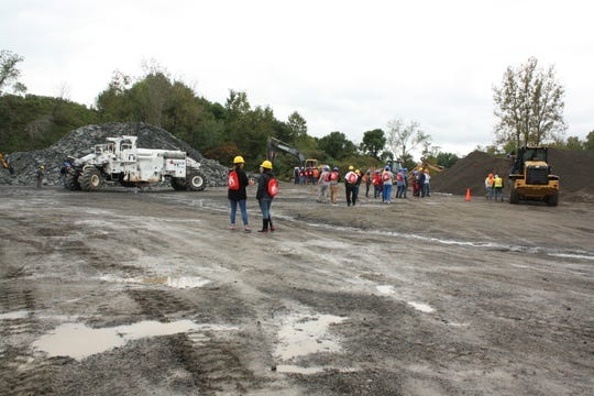 Students attending Wednesday's Construction and Technology Career Day at the Broome County Highway Facility in Chenango Bridge had the opportunity to operate heavy equipment.