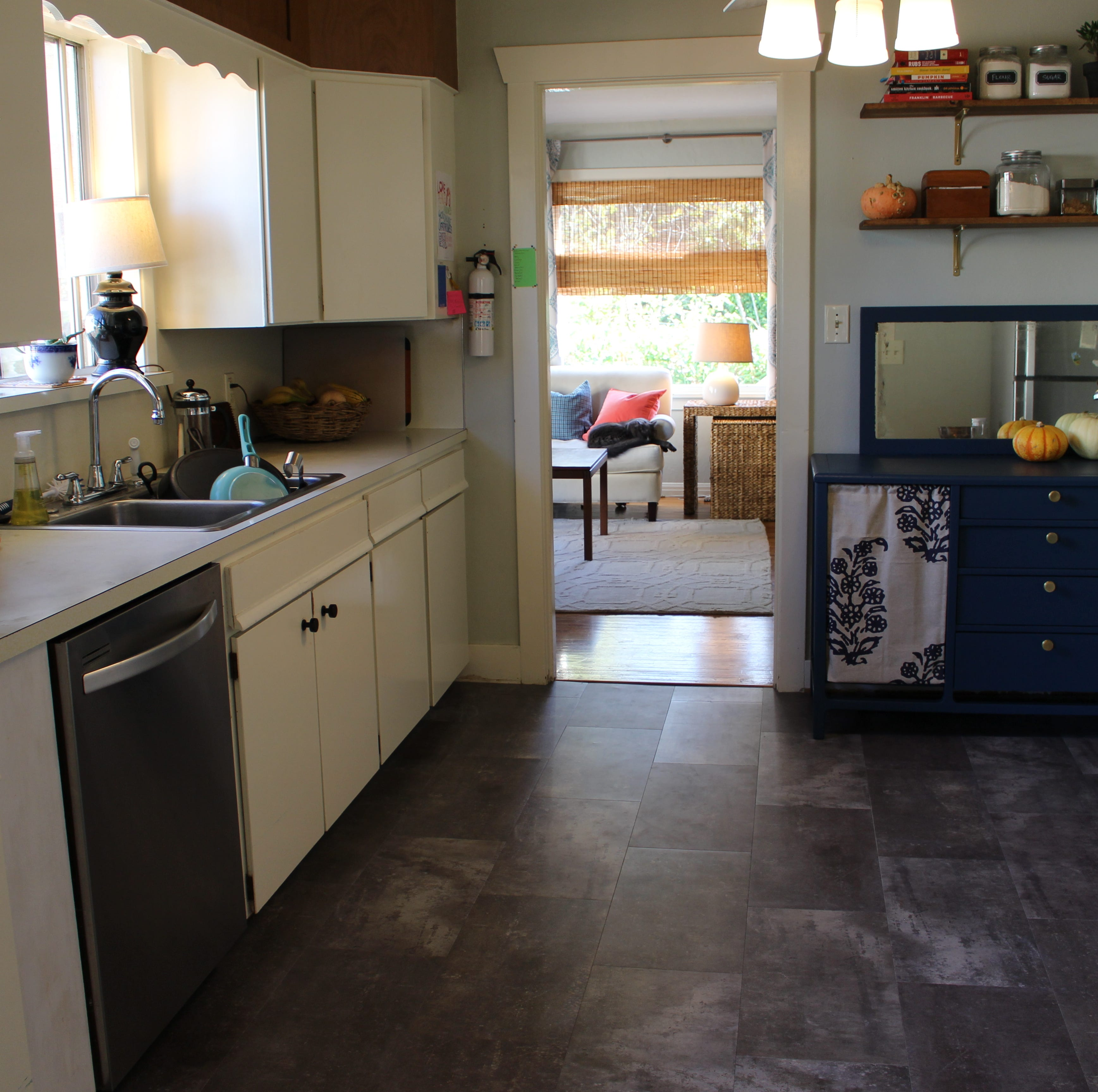 A quick fix to dated flooring