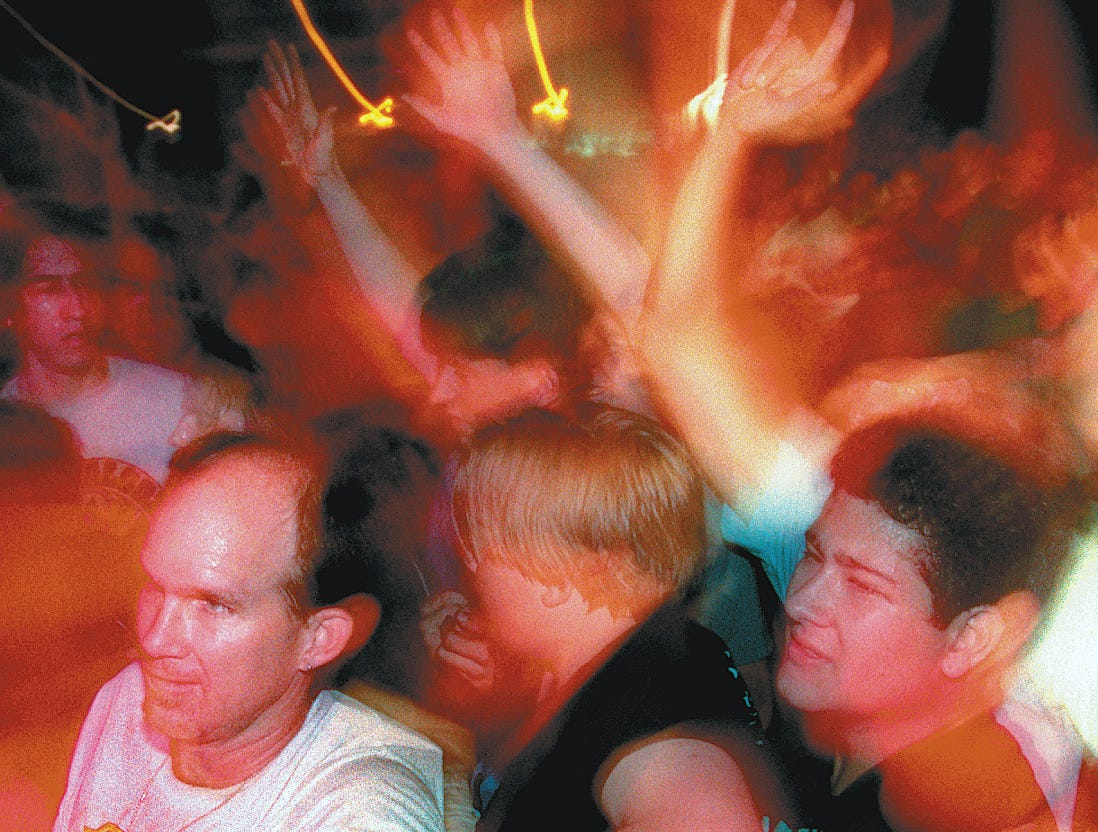 Fans go nuts at the Anthrax/Misfits concert June 12, 1996 at Texas Sky Festival Park in Corpus Christi.