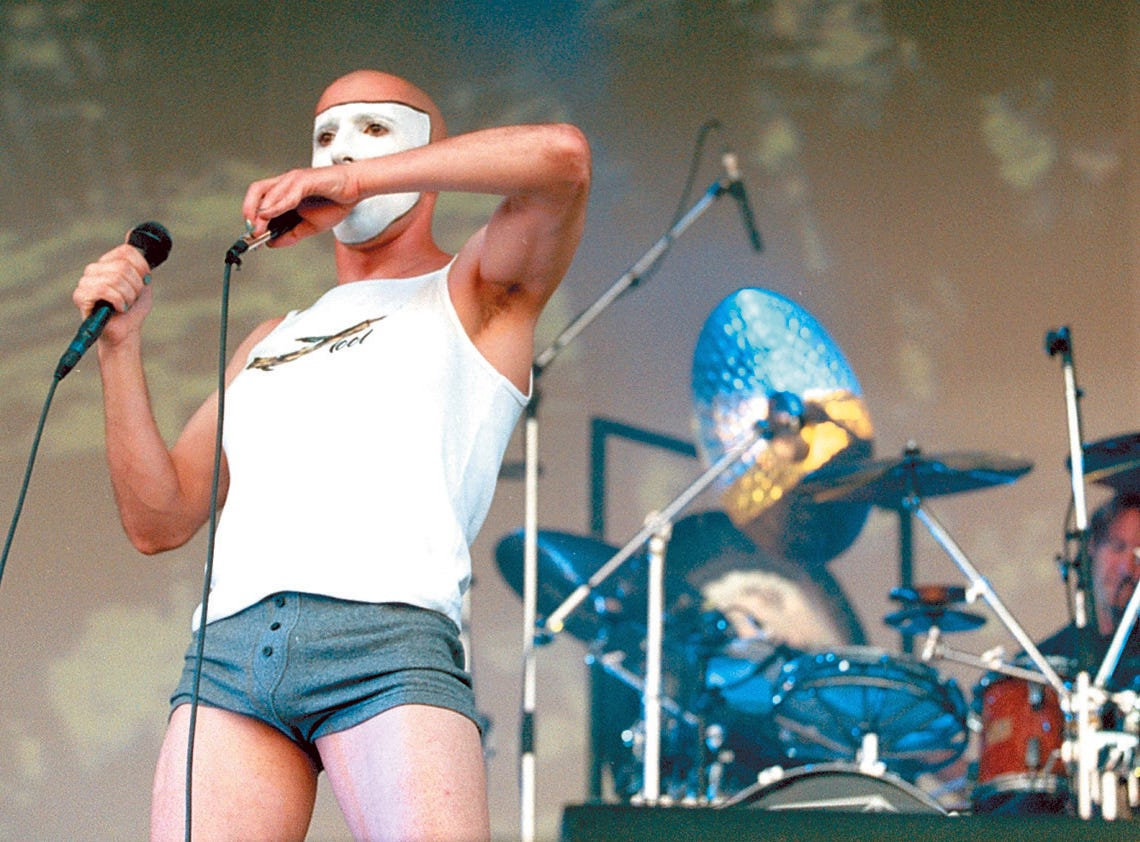 Tool plays at Lollapalooza at Texas Sky Festival Park in Corpus Christi, TX on Aug. 3, 1997.