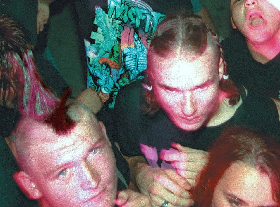 Fans of the Misfits were well represented at the Anthrax/Misfits concert June 12, 1996 at Texas Sky Festival Park in Corpus Christi.